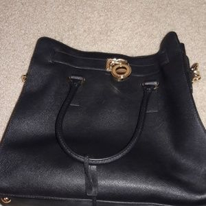 LG NS Tote Leather Black style Hamilton